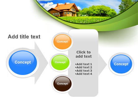 Village House PowerPoint Template Slide 17