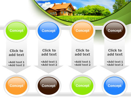 Village House PowerPoint Template Slide 18