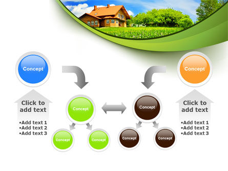 Village House PowerPoint Template Slide 19