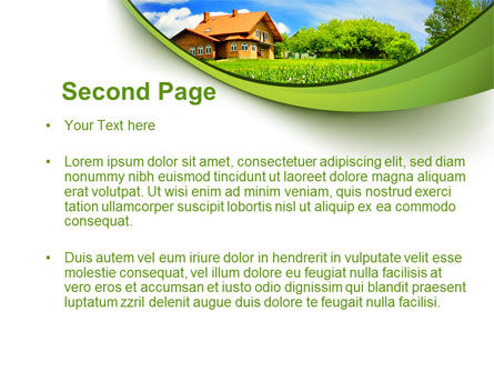 Village House PowerPoint Template, Slide 2, 10235, Construction — PoweredTemplate.com