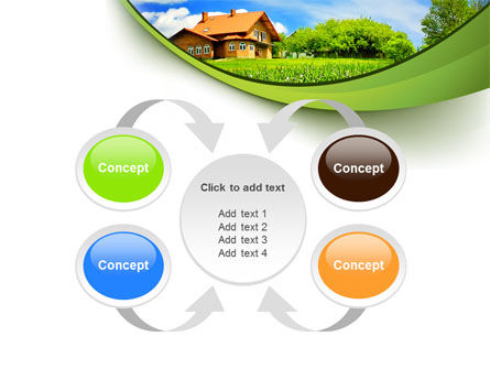 Village House PowerPoint Template Slide 6