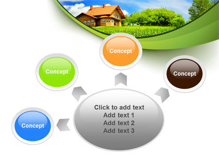 Village House PowerPoint Template Slide 7