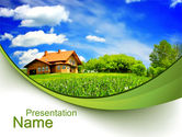 Construction: Village House PowerPoint Template #10235