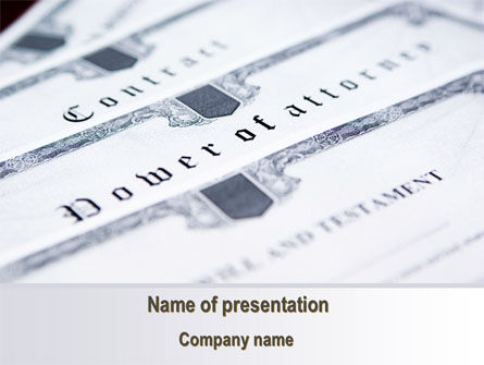 Legal Documents PowerPoint Template