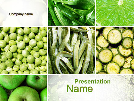 Green Vitamins PowerPoint Template, 10240, Agriculture — PoweredTemplate.com