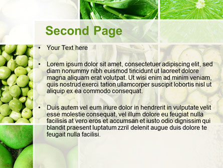 Green Vitamins PowerPoint Template, Slide 2, 10240, Agriculture — PoweredTemplate.com