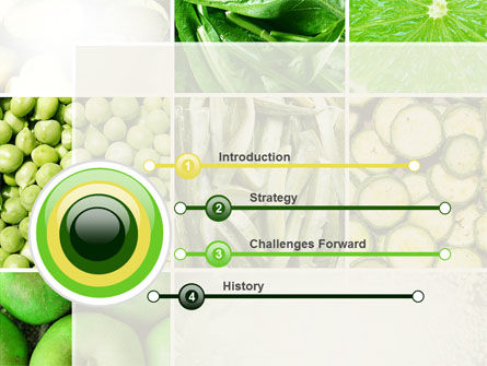 Green Vitamins PowerPoint Template, Slide 3, 10240, Agriculture — PoweredTemplate.com