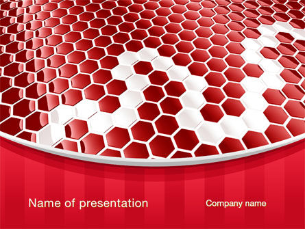 Linked Cells PowerPoint Template, 10241, Abstract/Textures — PoweredTemplate.com