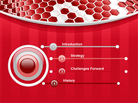 Linked Cells PowerPoint Template, Slide 3, 10241, Abstract/Textures — PoweredTemplate.com