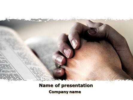 Pray PowerPoint Template, 10244, Religious/Spiritual — PoweredTemplate.com