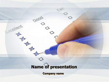 Education & Training: Evaluation Check PowerPoint Template #10248