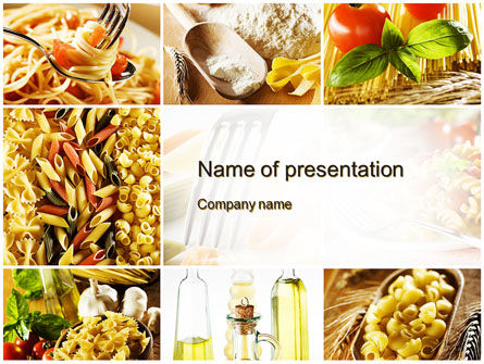 Cooking Pasta Powerpoint Template Backgrounds