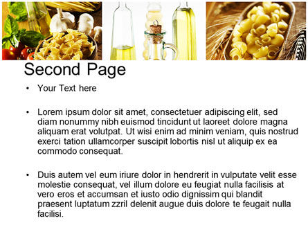 Cooking Pasta PowerPoint Template, Slide 2, 10250, Food & Beverage — PoweredTemplate.com