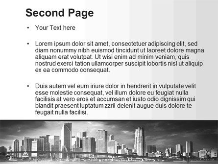 Monochrome City PowerPoint Template, Slide 2, 10253, Construction — PoweredTemplate.com