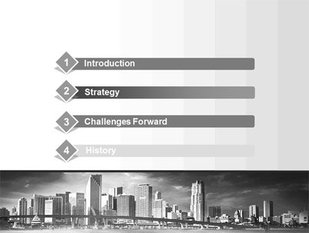 Monochrome City PowerPoint Template, Slide 3, 10253, Construction — PoweredTemplate.com