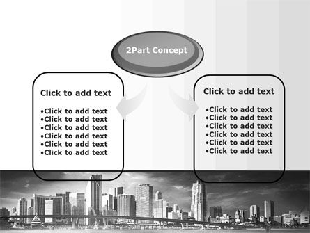 Monochrome City PowerPoint Template, Slide 4, 10253, Construction — PoweredTemplate.com