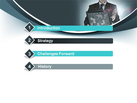 Techno Presentation PowerPoint Template, Slide 3, 10254, Technology and Science — PoweredTemplate.com