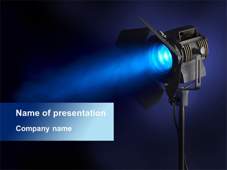 Careers/Industry: Studio Spotlight PowerPoint Template #10255