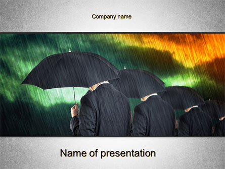 Bad Weather PowerPoint Template, 10256, Business Concepts — PoweredTemplate.com