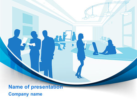 Office Silhouettes PowerPoint Template, 10257, Business — PoweredTemplate.com