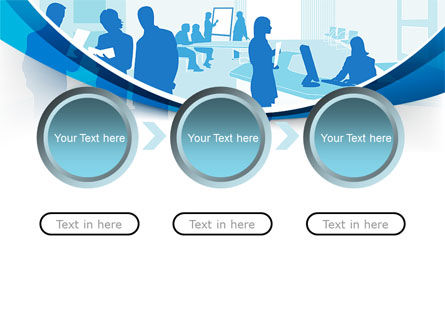 Office Silhouettes PowerPoint Template Slide 5