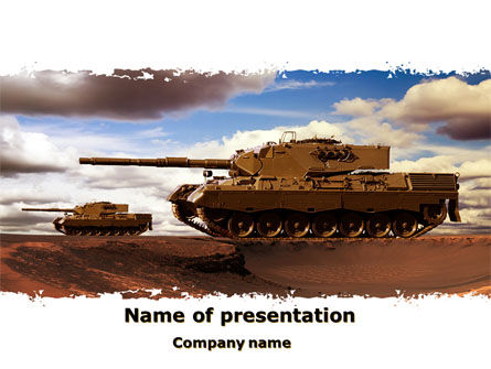 Military: Tank Attack PowerPoint Template #10258