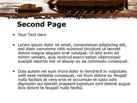 Tank Attack PowerPoint Template Slide 2