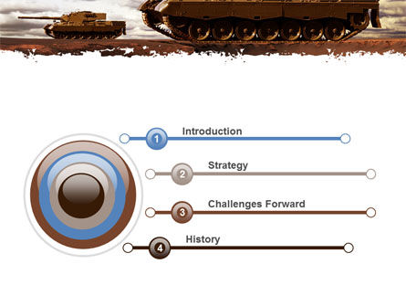Tank Attack PowerPoint Template Slide 3