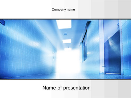 Light at the End of Corridor PowerPoint Template, 10259, Medical — PoweredTemplate.com