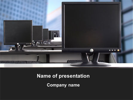Computers: Monitors PowerPoint Template #10260