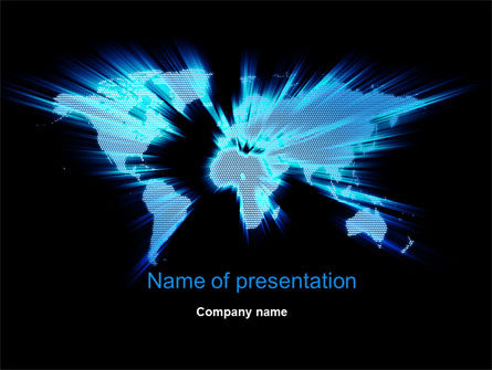 World Map Zoom PowerPoint Template