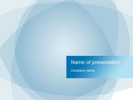 Blue Shapes PowerPoint Template, 10266, Abstract/Textures — PoweredTemplate.com