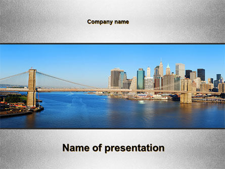 Construction: Brooklyn Bridge PowerPoint Template #10267