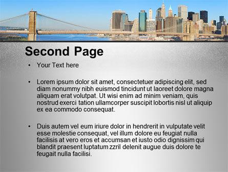 Brooklyn Bridge PowerPoint Template Slide 2