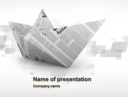 Paper Boat PowerPoint Template, 10268, Business Concepts — PoweredTemplate.com