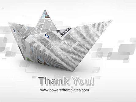 Paper Boat PowerPoint Template Slide 20