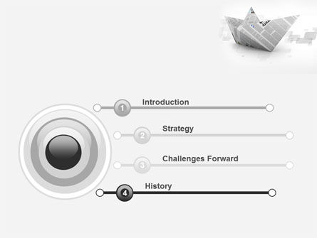 Paper Boat PowerPoint Template, Slide 3, 10268, Business Concepts — PoweredTemplate.com