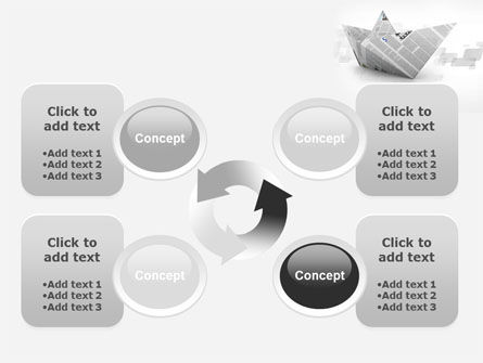 Paper Boat PowerPoint Template Slide 9