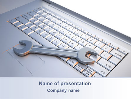 Repair Service PowerPoint Template, 10269, Computers — PoweredTemplate.com