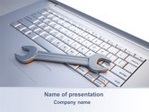 Computers: Repair Service PowerPoint Template #10269