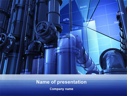 Industrial Economy PowerPoint Template, 10270, Utilities/Industrial — PoweredTemplate.com