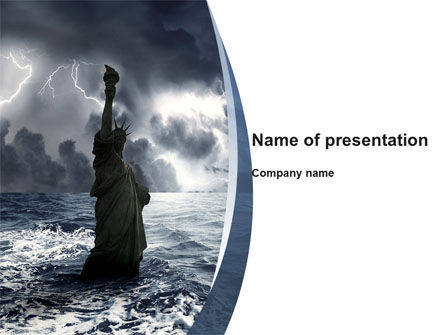 Nature & Environment: Catastrophe PowerPoint Template #10271
