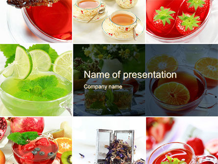 Food & Beverage: Fruit Desserts PowerPoint Template #10272