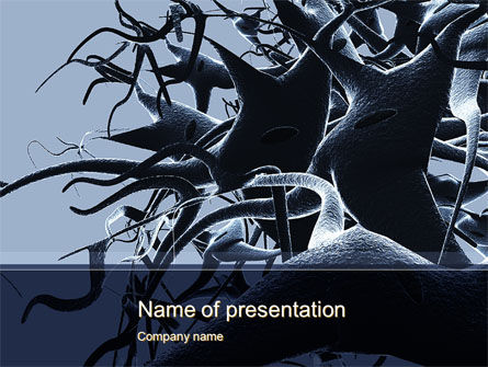 Neurons Cluster PowerPoint Template, 10273, Medical — PoweredTemplate.com