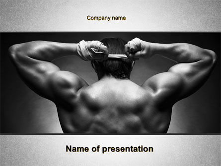 Sports: Fighter PowerPoint Template #10274