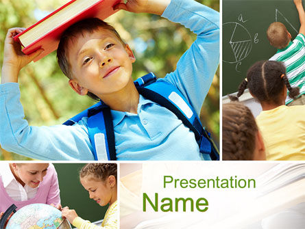 Learning PowerPoint Template, 10275, Education & Training — PoweredTemplate.com