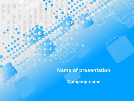 Abstract/Textures: Dotted Blue PowerPoint Template #10276