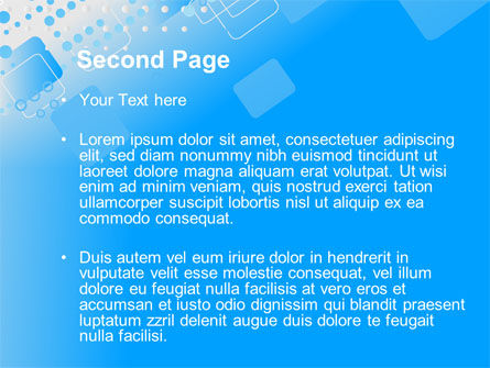 Dotted Blue PowerPoint Template Slide 2
