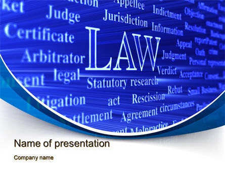 Legal: Law PowerPoint Template #10278