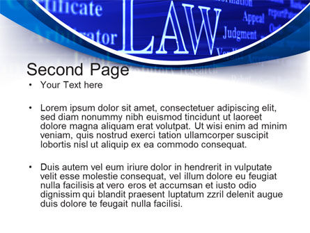 Law PowerPoint Template, Slide 2, 10278, Legal — PoweredTemplate.com